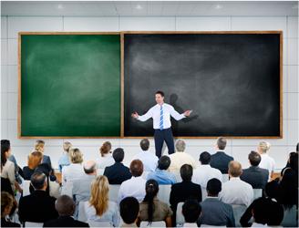 Szkolenia okresowe bhp, sala wykładowa