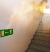 Pożar w budynku - próbne ewakuacje budynku